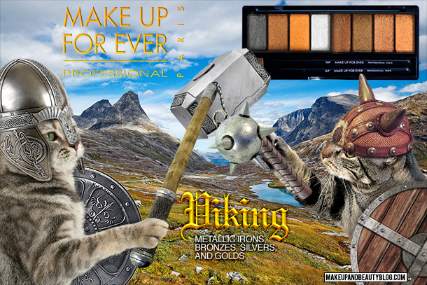 Tabs the Cat for the Make Up For Ever Viking Palette