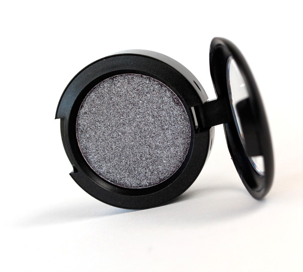 MAC Black Grape, a deep aubergine with mutli-colored pearl and a frost finish