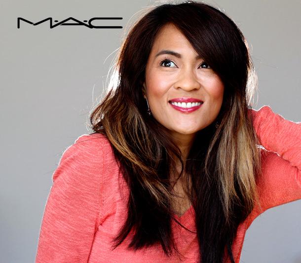 MAC Gwi-Yo-Mi Sheen Supreme Lipglass Tint, a mid-tone raspberry