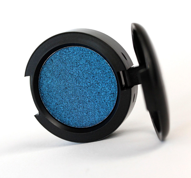 MAC Midnight Pressed Pigment, a vibrant deep blue with a frost finish