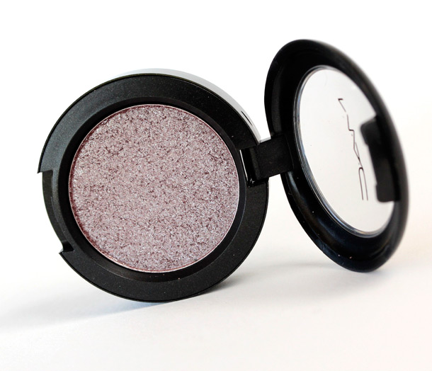 MAC Moth Pressed Pigment, a mauve with silver pearl and a frost finish