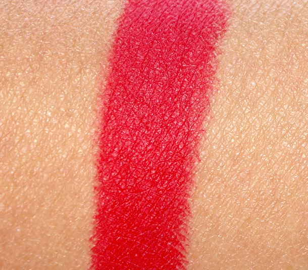 MAC Ruby Woo Matte Lipstick Swatch