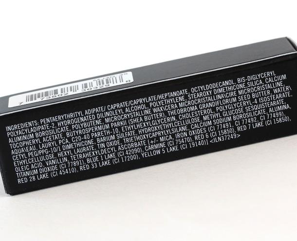 MAC Sheen Supreme Ingredients