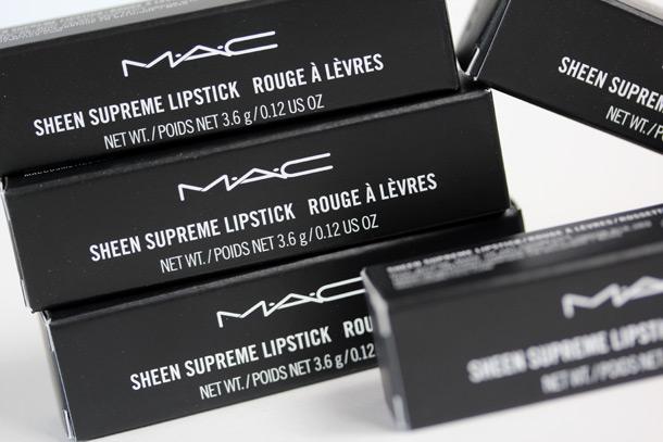 MAC Sheen Supreme Lipsticks Boxes