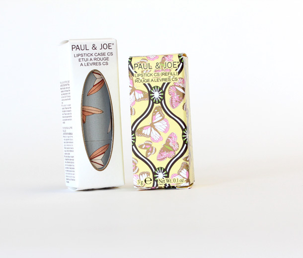 Paul & Joe Lipstick Case CS 009 ($5) and Lipstick in Once Upon a Time 081 Refill ($17) on the right