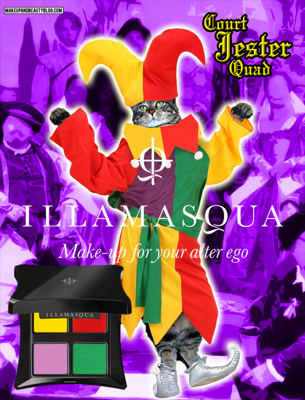Tabs the Cat for the Illamasqua Court Jester Quad