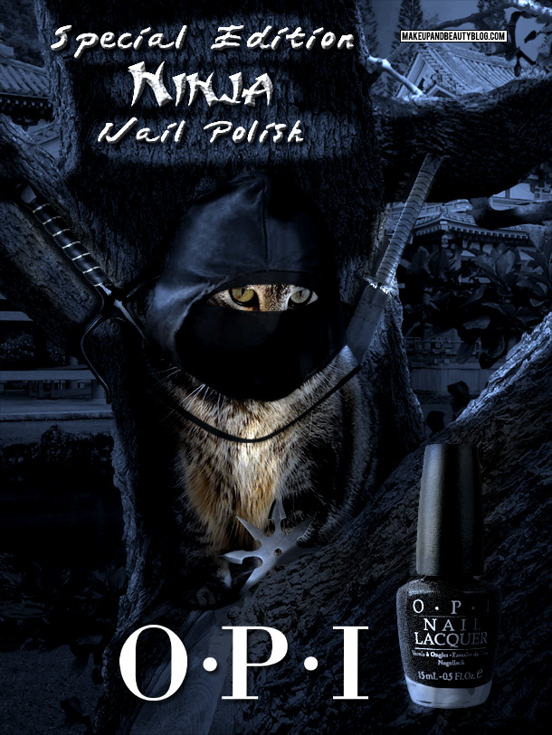 Tabs the Cat for OPI Ninja Tabby Nail Polish