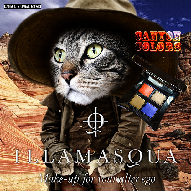 Tabs for the Illamasqua Canyon Colors Quad