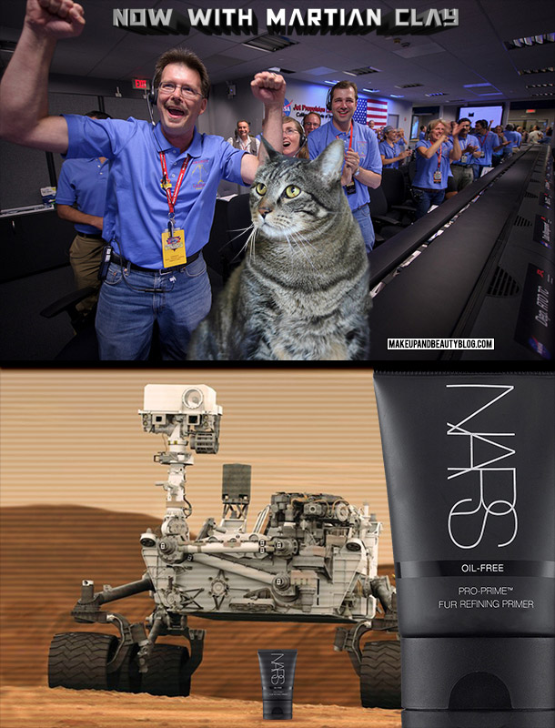 Tabs the Cat for NASA NARS Fur Primer