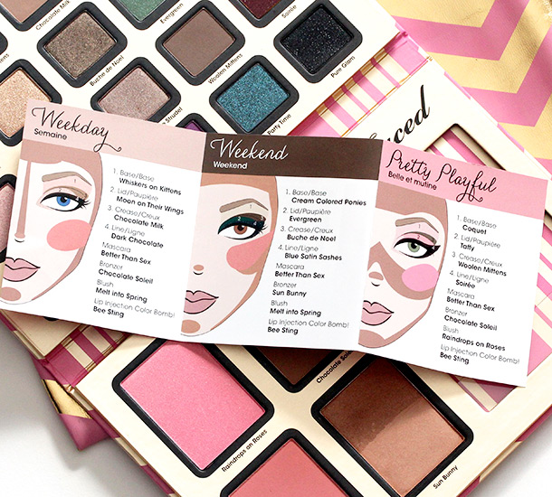 Too Faced A Few of My Favorite Things booklet