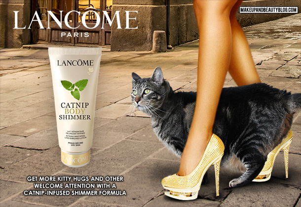 Tabs the Cat for Lancome Catnip-Infused Body Shimmer