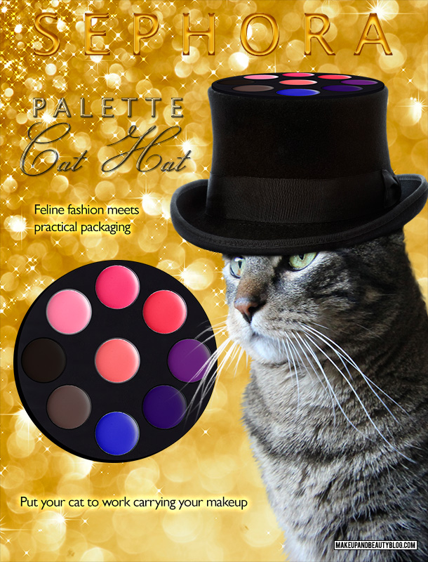 Tabs the Cat for the Sephora Cat Hat Palette