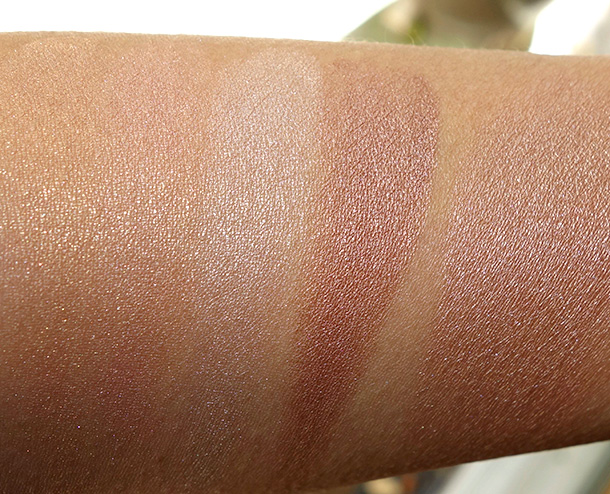 Bobbi Brown Nude Glow Shimmer Brick swatches