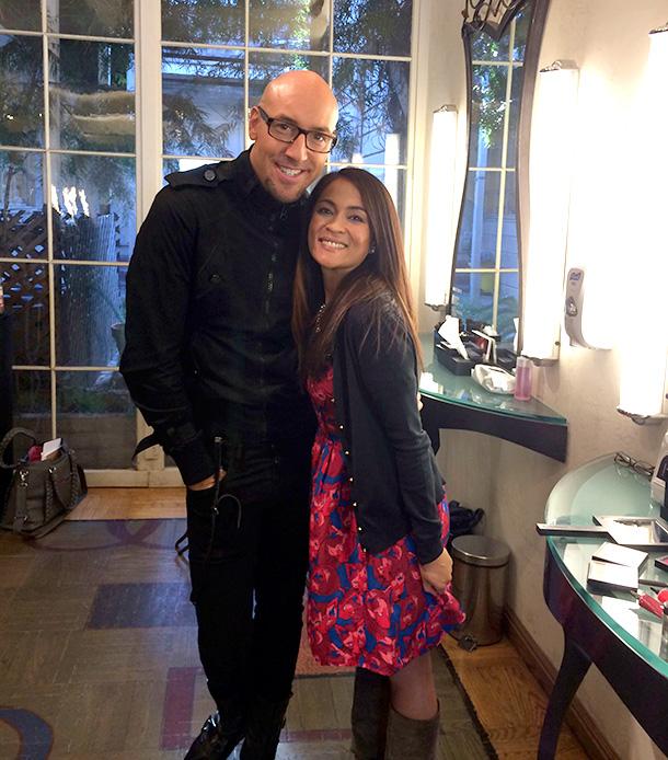 Karen with Senior MAC Artist Victor Cembellin
