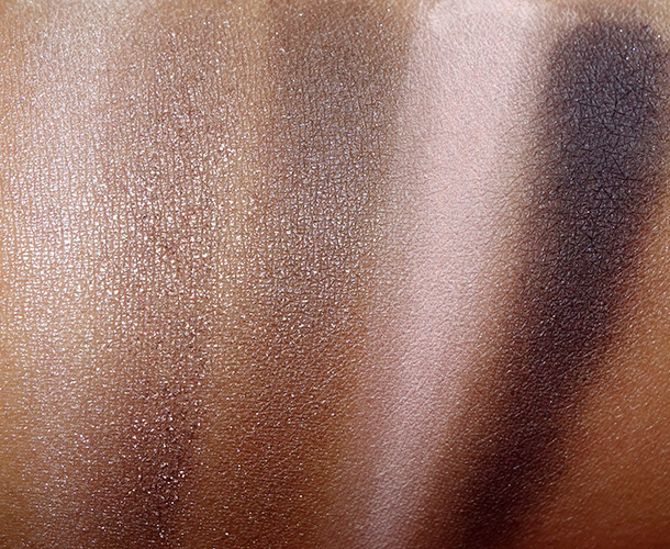 MAC Stroke of Midnight Eyes: Cool swatches