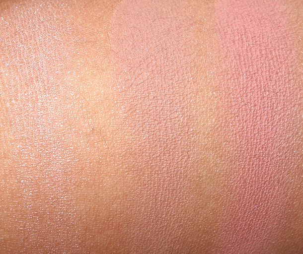 Sigma Enlight Collection Blush Swatches from the left: Peaceful, Mellow and Serene