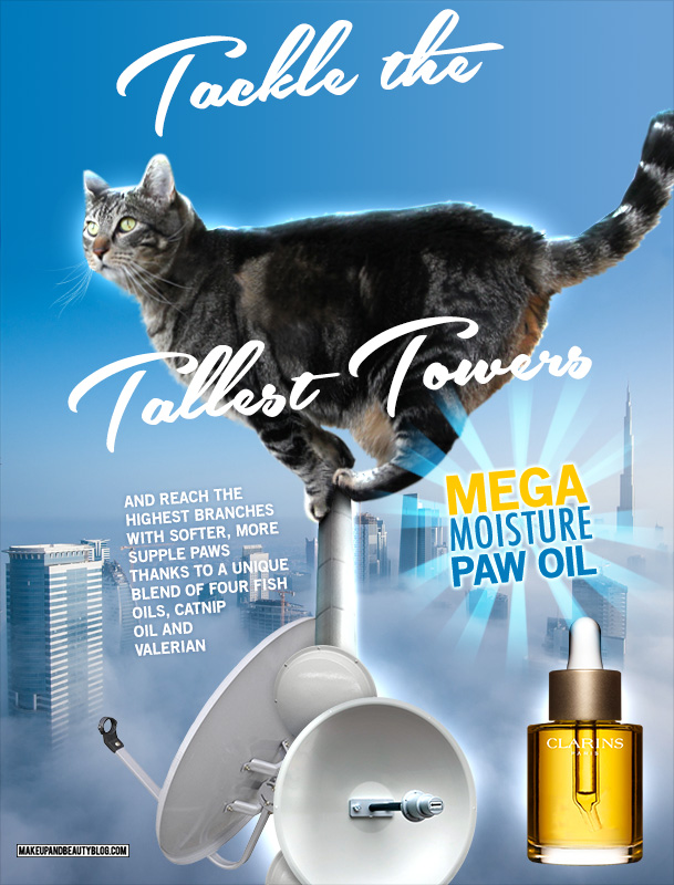 Tabs the Cat for Clarins Tallest Towers Paw Oil
