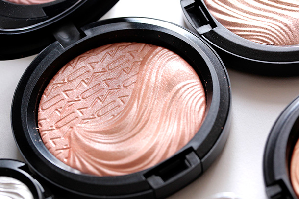 MAC Fairly Precious Extra Dimension Skinfinish, a peach with dimensional pearly green