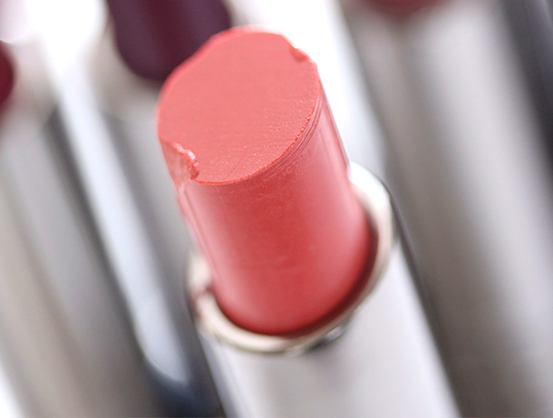 MAC Fresh & Frisky Huggable Lipcolour, a soft neutral peach with a cream finish