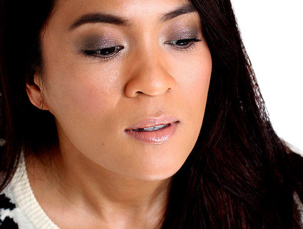 MAC Fluidline in It's Physical on my lids, Our Secret along the lower lash lines and Chilled in the inner corners
