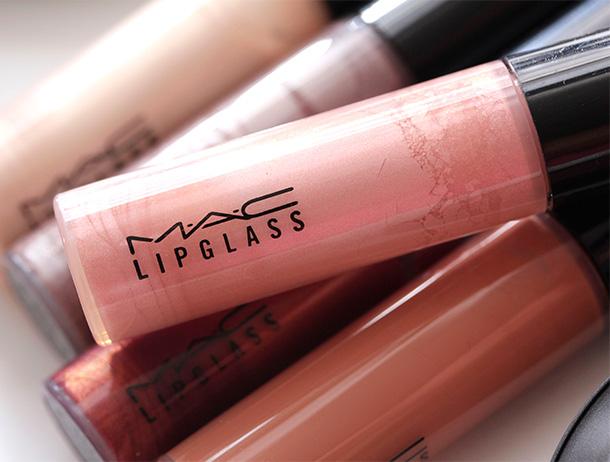 MAC Oh My Darling Lipglass, a pale yellowish pink
