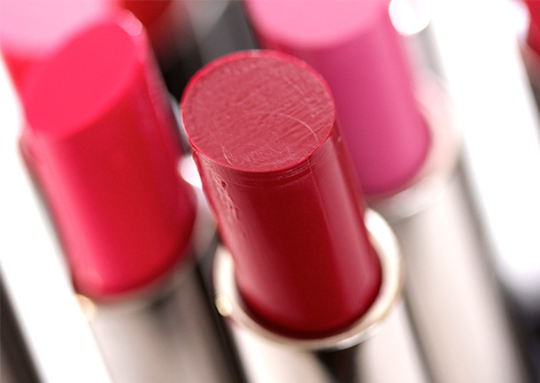 MAC Red Necessity Huggable Lipcolour, a deep warm wine with a cream finish