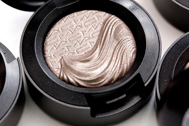MAC Silver Dawn Extra Dimension Eye Shadow, a dirty grey mauve with a metallic finish