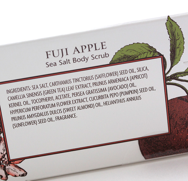 Trader Joe's Exfoliating Body Scrub Trio: Fuji Apple Seas Salt Body Scrub Ingredients