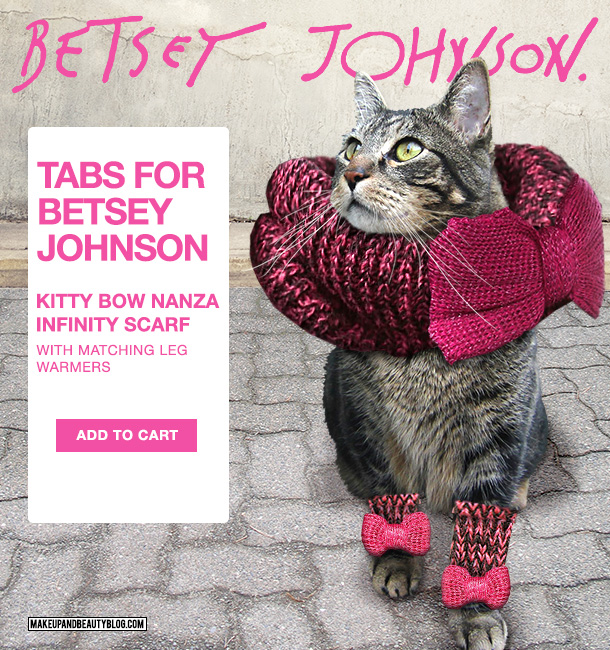 Tabs the Cat for the Betsey Johnson Kitty Bow Nanza Inifinity Scarf