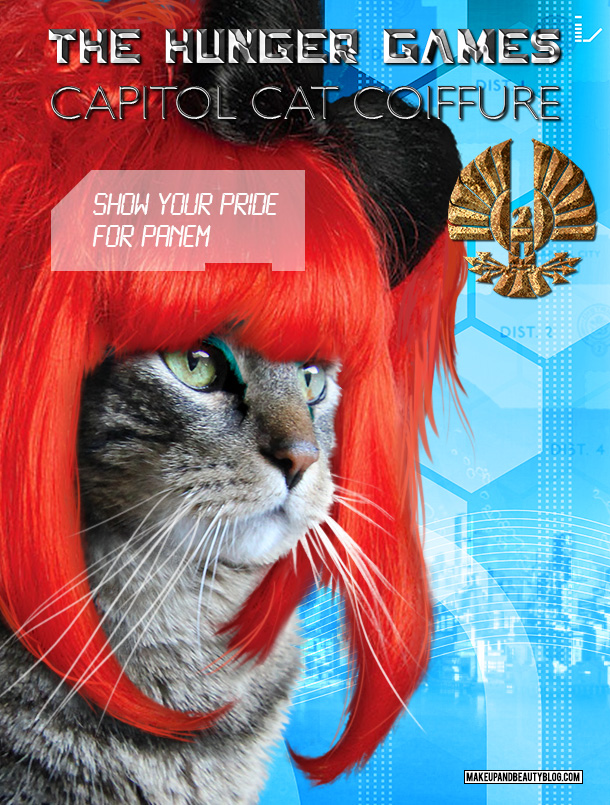 Tabs the Cat for the Hunger Games Capitol Cat Coiffure