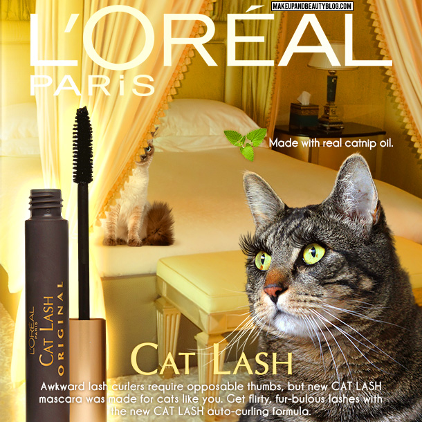 Tabs the Cat for L'Oreal Cat Lash Mascara