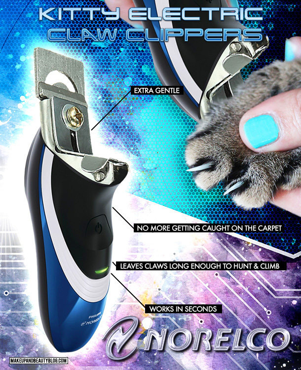 Tabs the Cat for the Norelco Kitty Claw Clippers