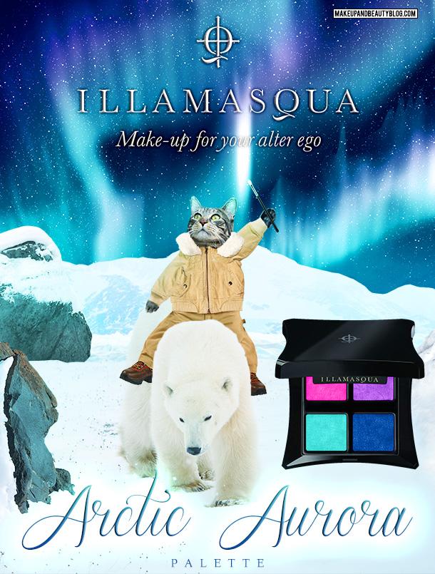 Tabs the Cat for the Illamasqua Arctic Aurora Palette