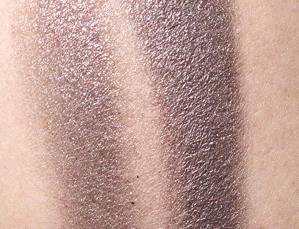 A swatch of Smoky Plum swatch on NW25 skin