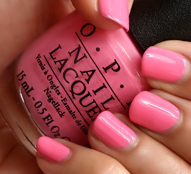 OPI Kiss Me I'm Brazilian, a creamy warm pink