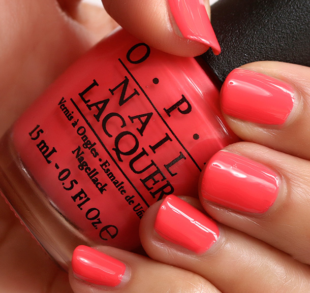 OPI Live.Love.Carnaval, a vibrant coral