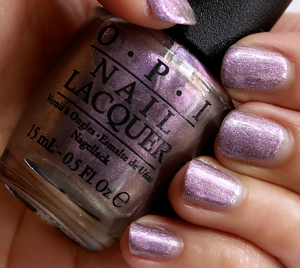 OPI Next Stop...The Bikini Zone, a shimmery amethyst-toned pewter