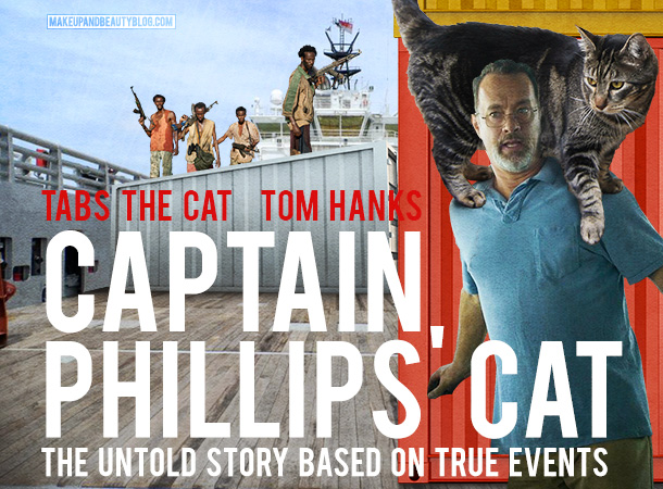Tabs the Cat starring in Captain Phillips' Cat