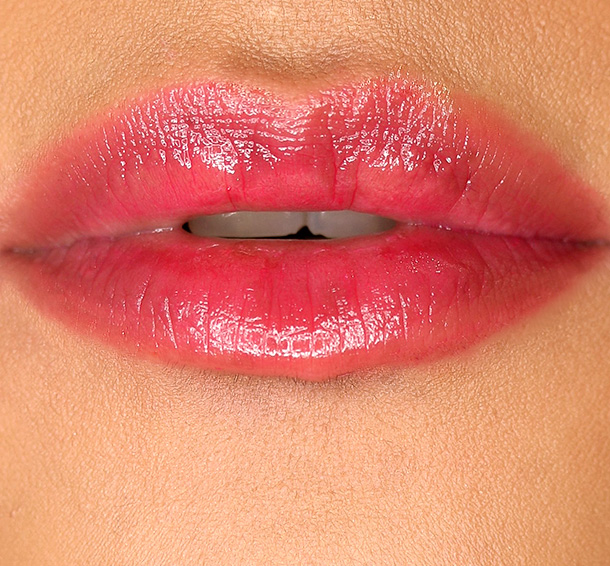 MAC Patentpolish Lip Pencil in Pleasant, a rosy pink