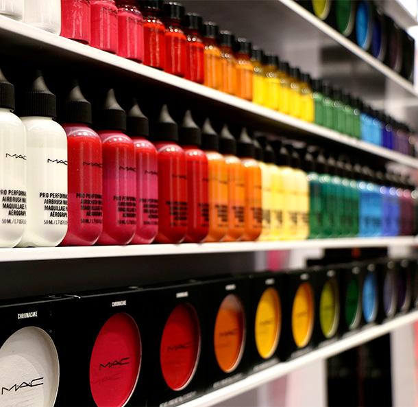 A MAC Makeup Rainbow!