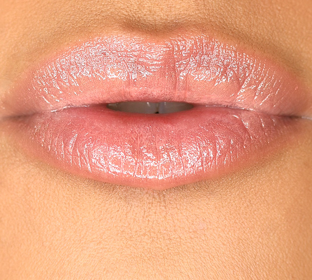 MAC Patentpolish Lip Pencil in Revved Up, a creamy peach