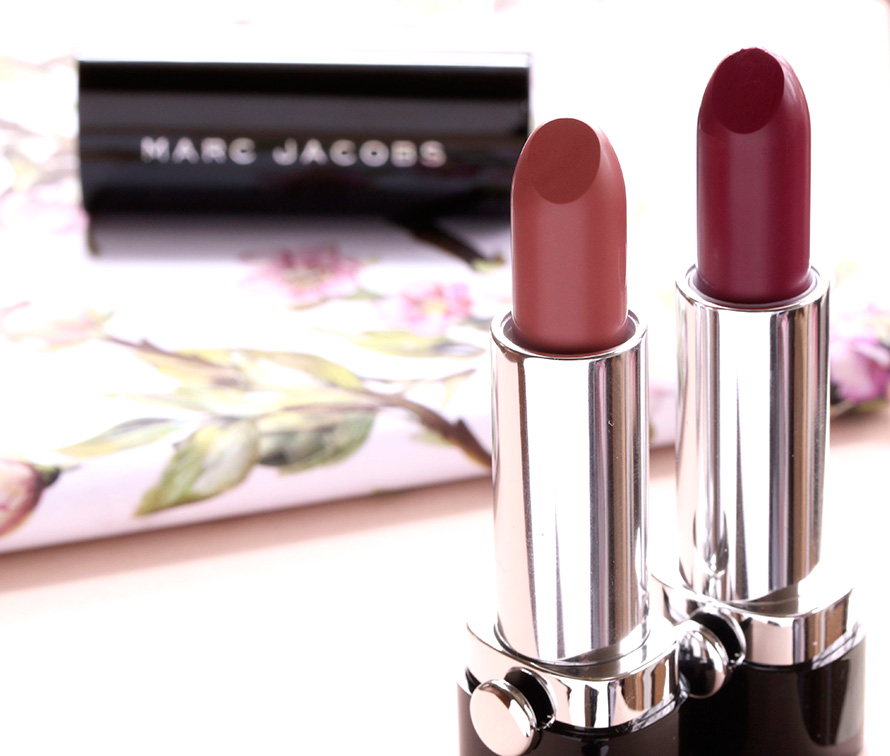 Marc Jacobs Lovemarc Lip Gels in Role Play (left) and Seduce Me (right)