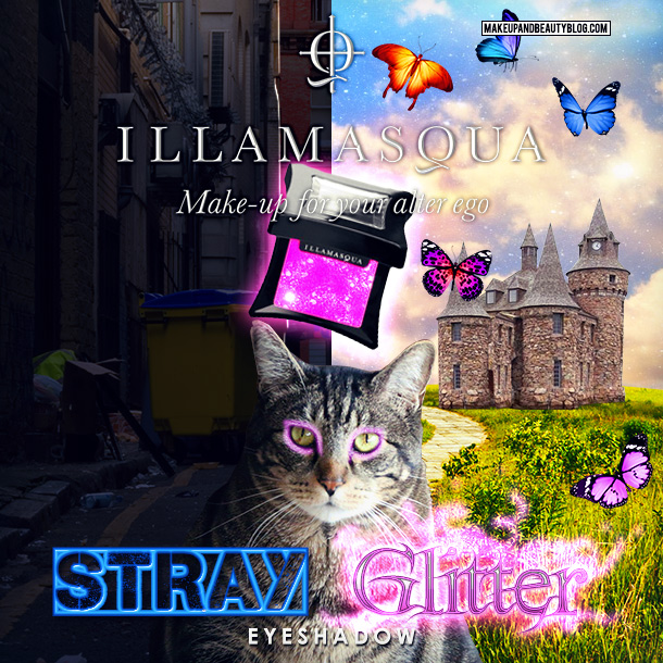 Tabs the Cat for Illamasqua Stray Glitter Eyeshadow