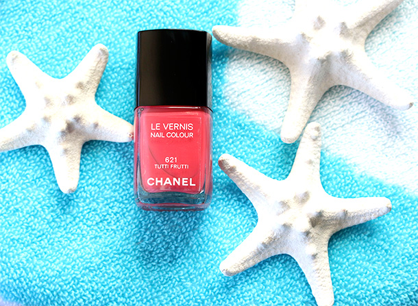 Chanel Le Vernis Nail Colour in Tutti Frutti, a soft coral ($27)