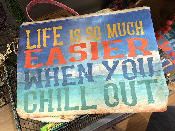 Natural Life Is Easier Zipper Pouch