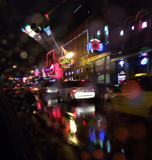 Downtown Nashville, TN, Broadway Street in the Rain