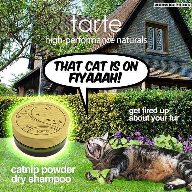 Tabs the Cat for Tarte Catnip Powder Dry Shampoo