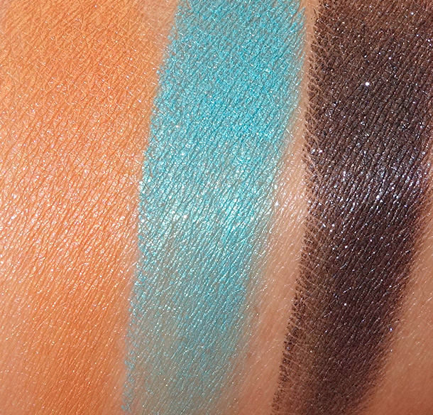 Colour Pop Swatches from the left: Sunnies, Ibiza and Ratchet