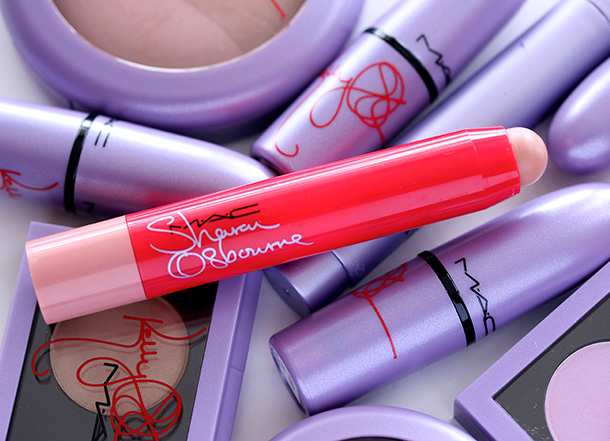 MAC Sharon Osbourne Patentpolish Lip Pencil in Innocent