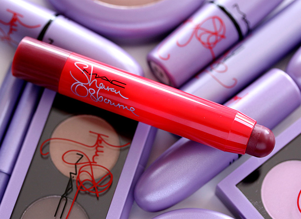 MAC Sharon Osbourne Patentpolish Lip Pencil in Ruby